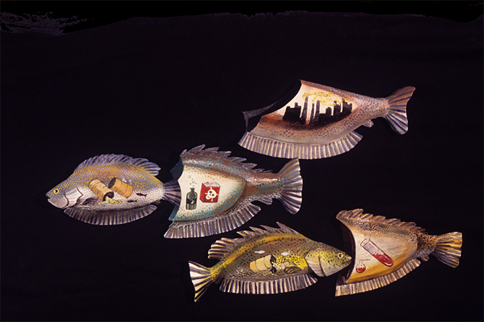 Fish sculptures by Christy Rupp