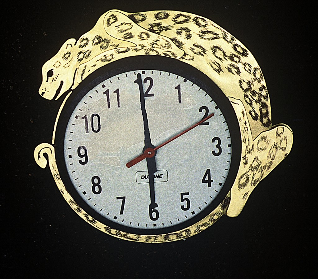 Jaguar Clock by Christy Rupp