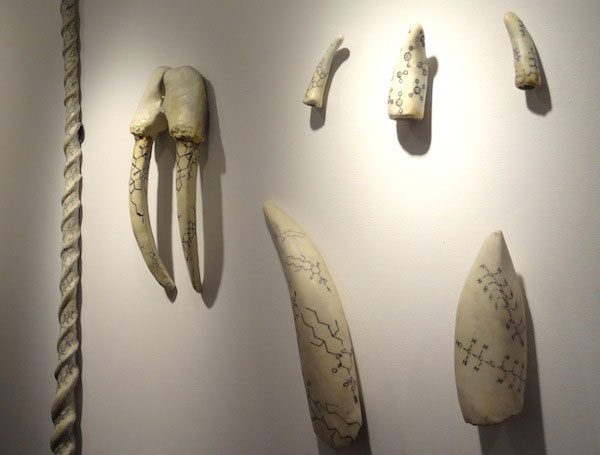Fake ivory sculptures by Christy Rupp